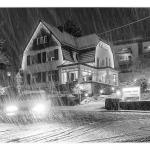 Gummersbach, Reininghauserstrasse, der erste Schnee